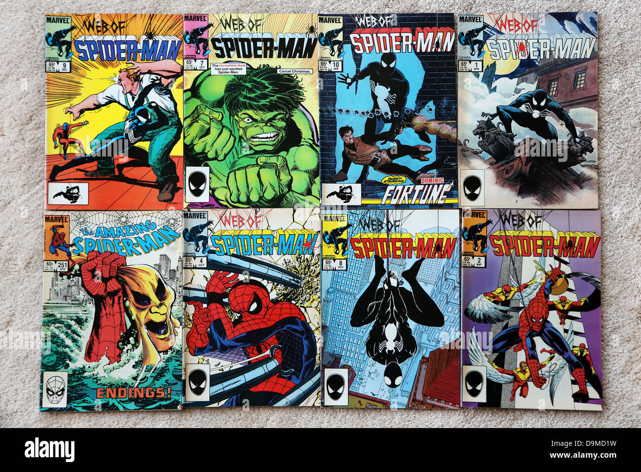 Collection Of Marvel Comics The Web Of Spider-man And The Amazing Spider-man - Stock Image
