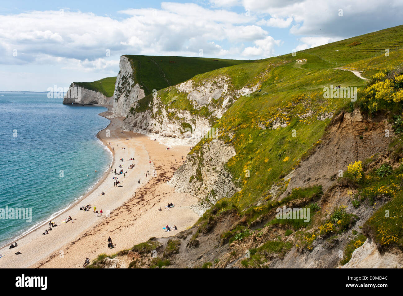 Iconic beach of Durdle Door in southern England in summertime. - Stock Image