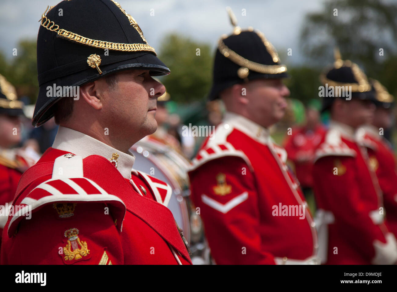Preston UK, 22 June 2013. The Band of The King's Division based at Weeton Barracks at the Preston Military Show Stock Photo