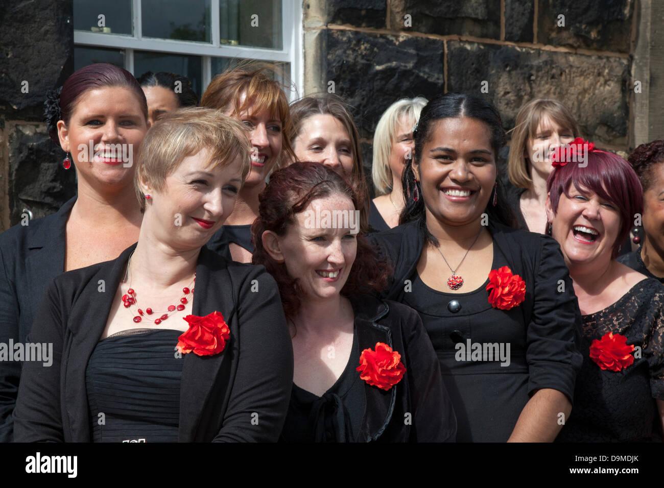 Preston UK, 22 June 2013. Weeton Military Wives Choir debut at the Preston Military Show at Fulwood Barracks, Preston, Stock Photo