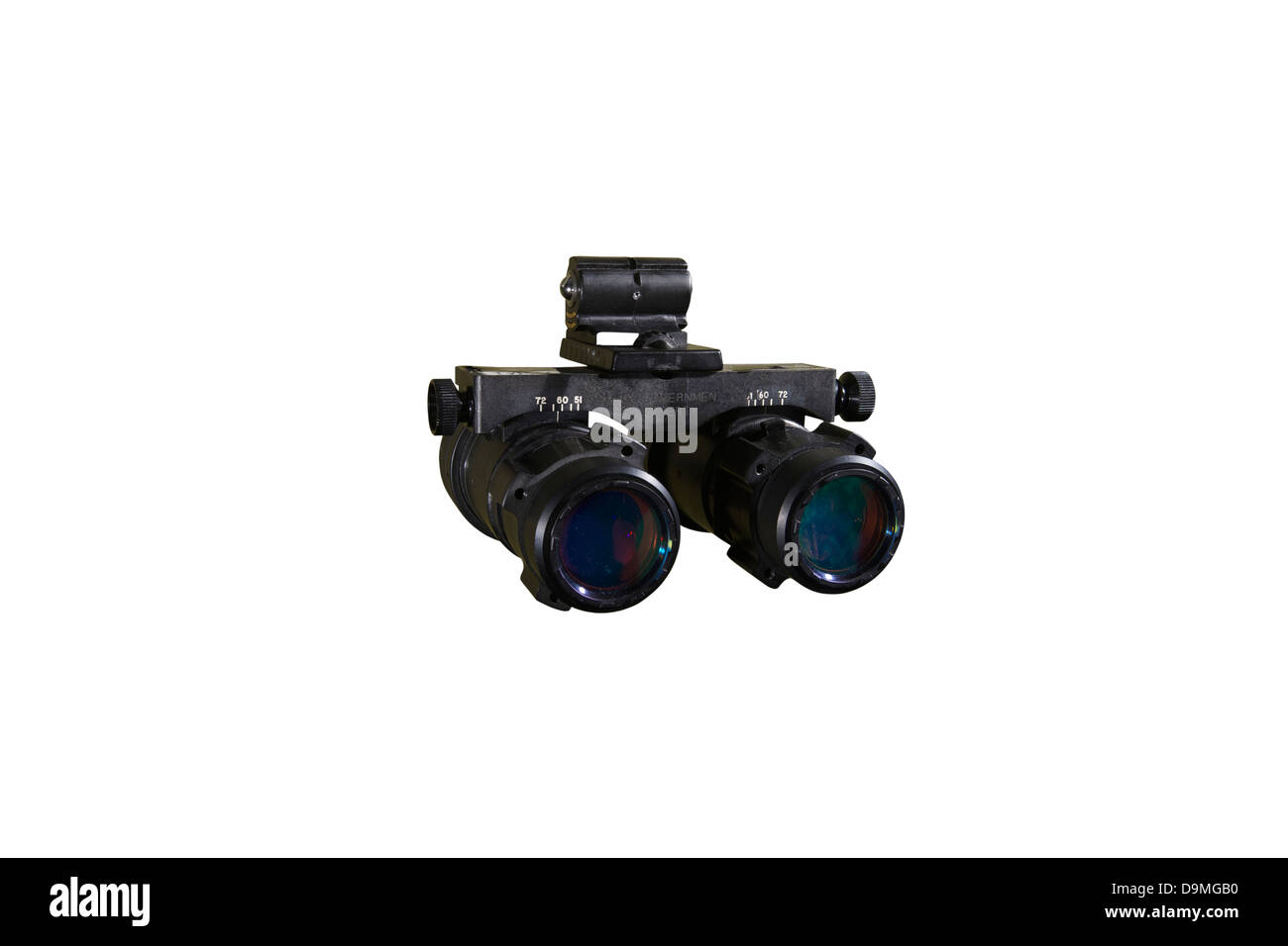 AN/AVS-6 night vision goggles used by the military Stock Photo