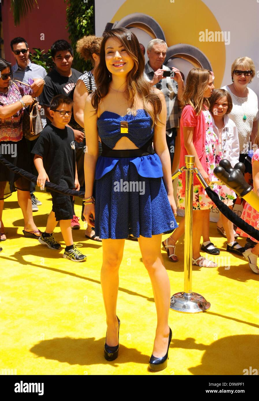 Los Angeles, CA, US. 22 June 2013. Miranda Cosgrove at arrivals for DESPICABLE ME 2 Premiere, Universal City Walk - Stock Image
