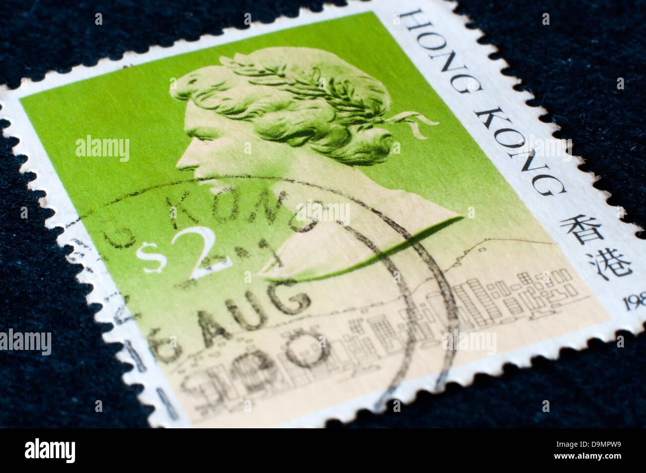 Hong Kong Postage Stamp Stock Photos & Hong Kong Postage