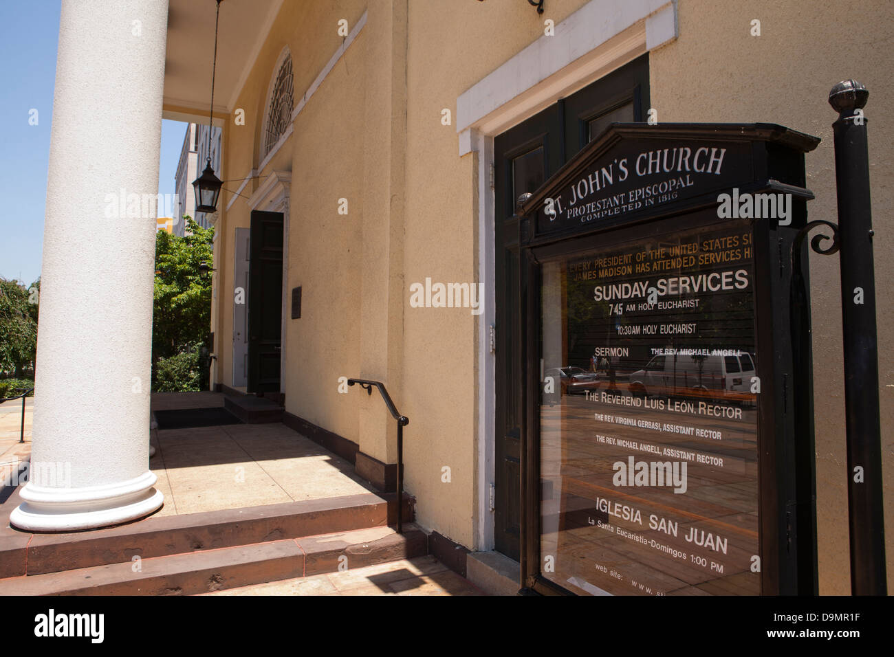 St. John's Protestant Episcopal Church, Washington DC - Stock Image