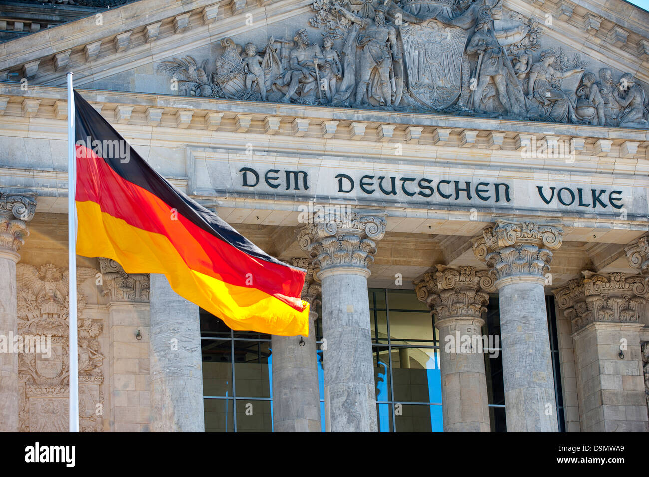 The Bundestag in Berlin, Germany - Stock Image