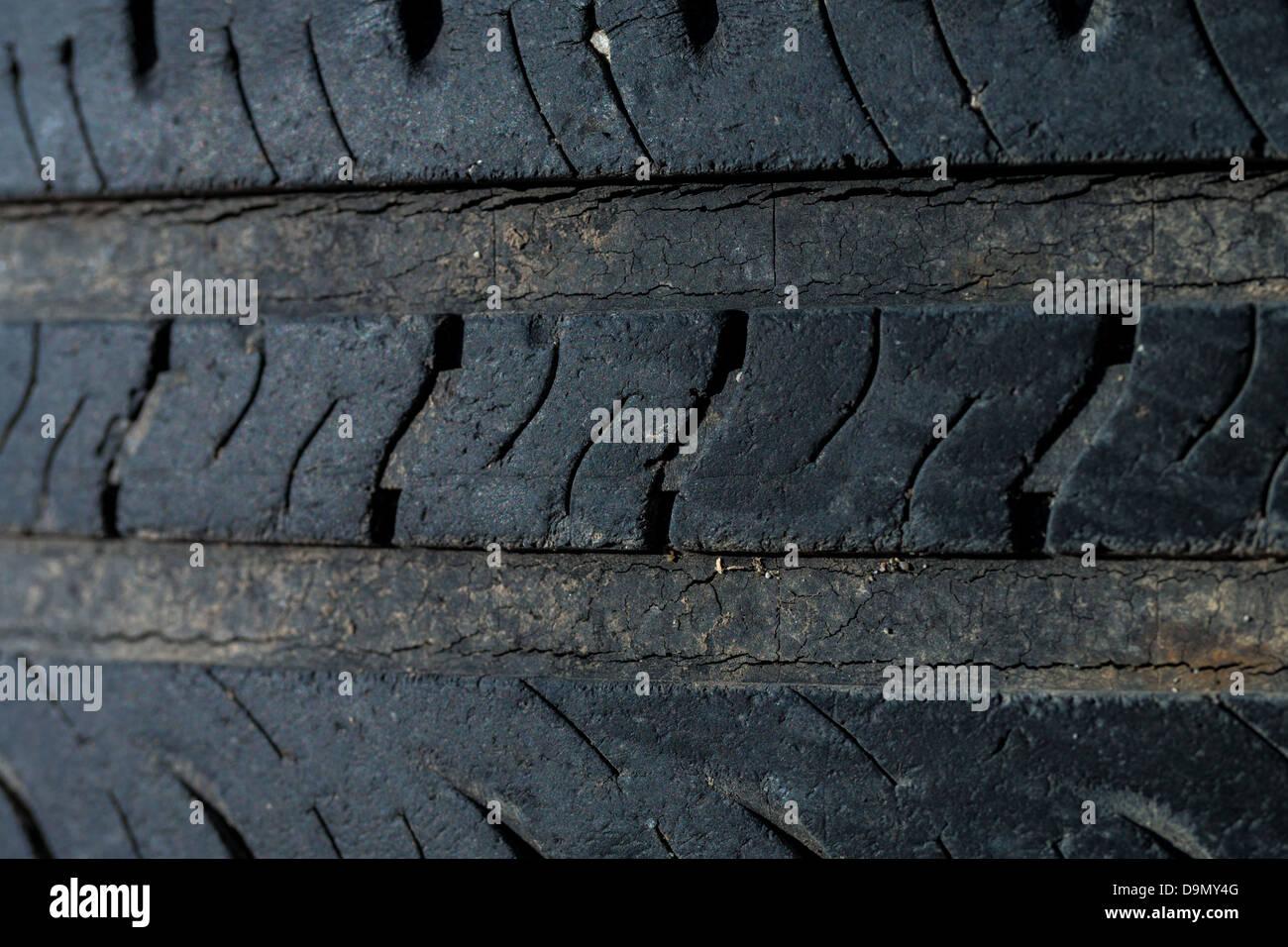 Worn tires - Stock Image
