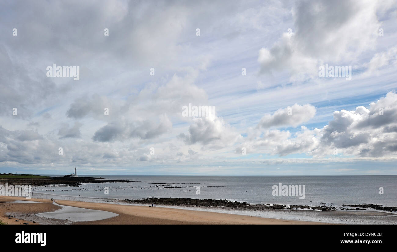St Marys lighthouse on a summer morning. Whitley Bay. Tyne and wear. UK. 23/06/2013 - Stock Image