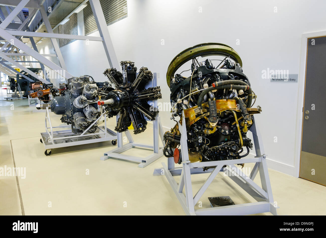 A selection of internal combustion aircraft engines - Stock Image