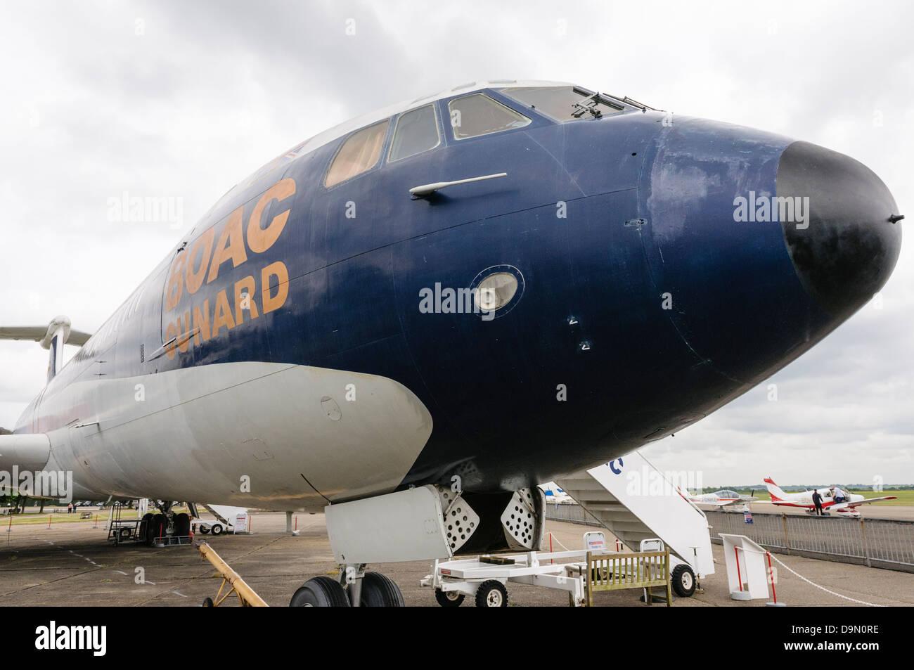 BOAC-Cunard Vickers VC10 G-ASGC at Duxford Airfield Stock Photo