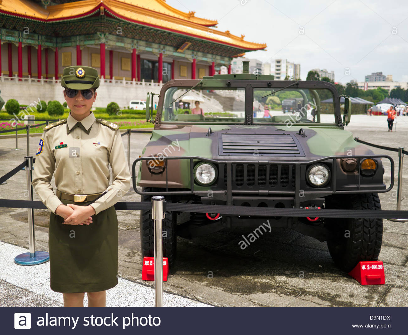 ROC Humvee on display at the Taiwan Special Forces military