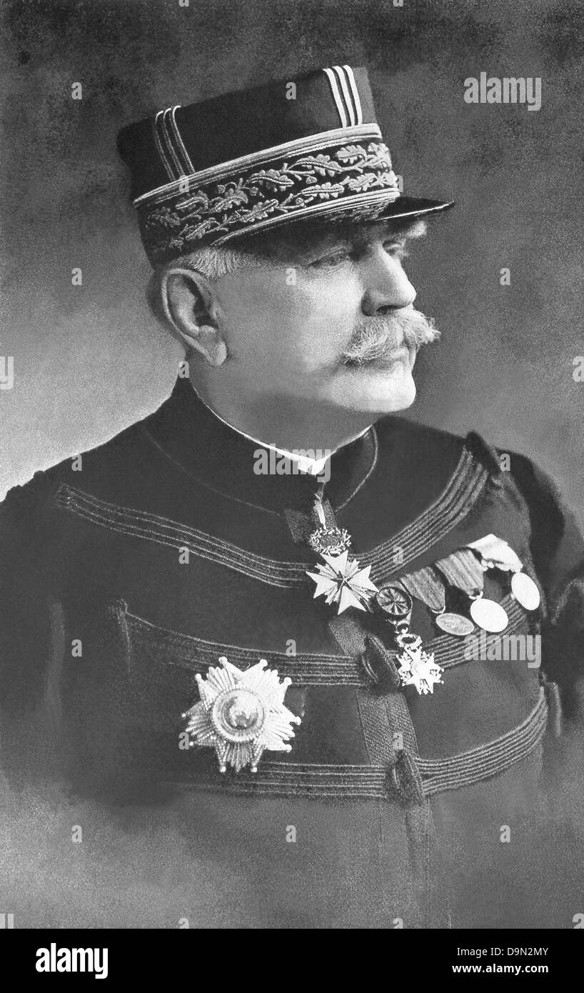 General Joseph Jacques Cesaire Joffre was marshal of France and the French commander in chief in World War I until - Stock Image