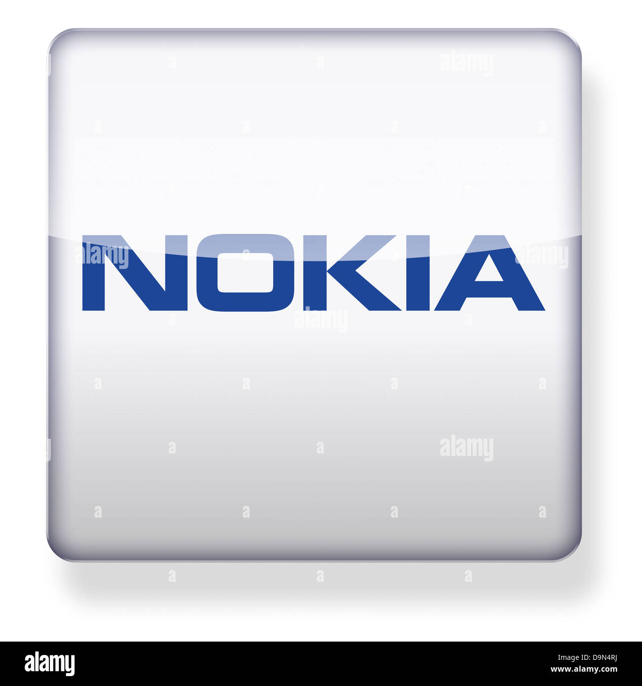 Nokia logo as an app icon. Clipping path included. - Stock Image