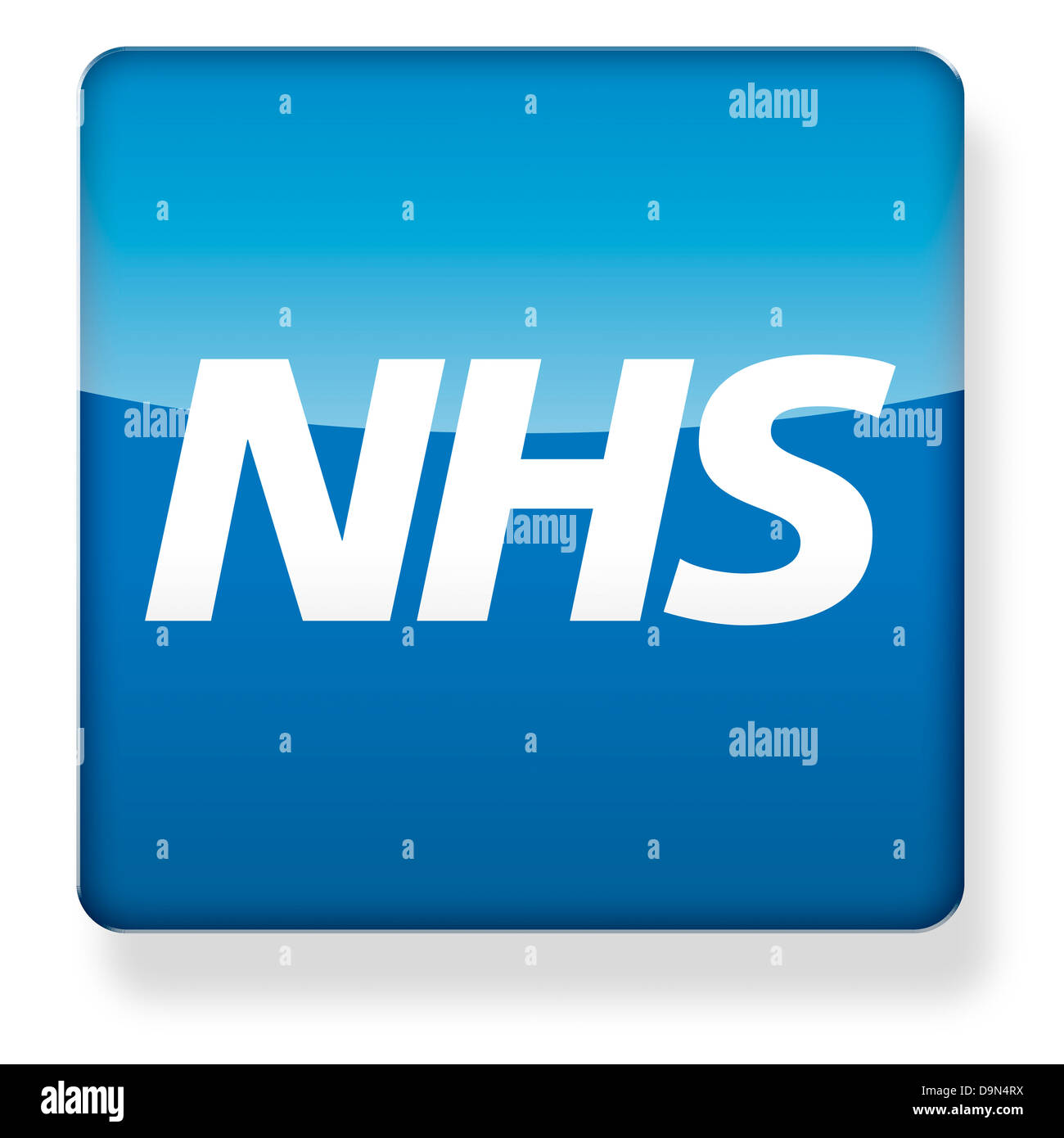 NHS logo as an app icon. Clipping path included. - Stock Image