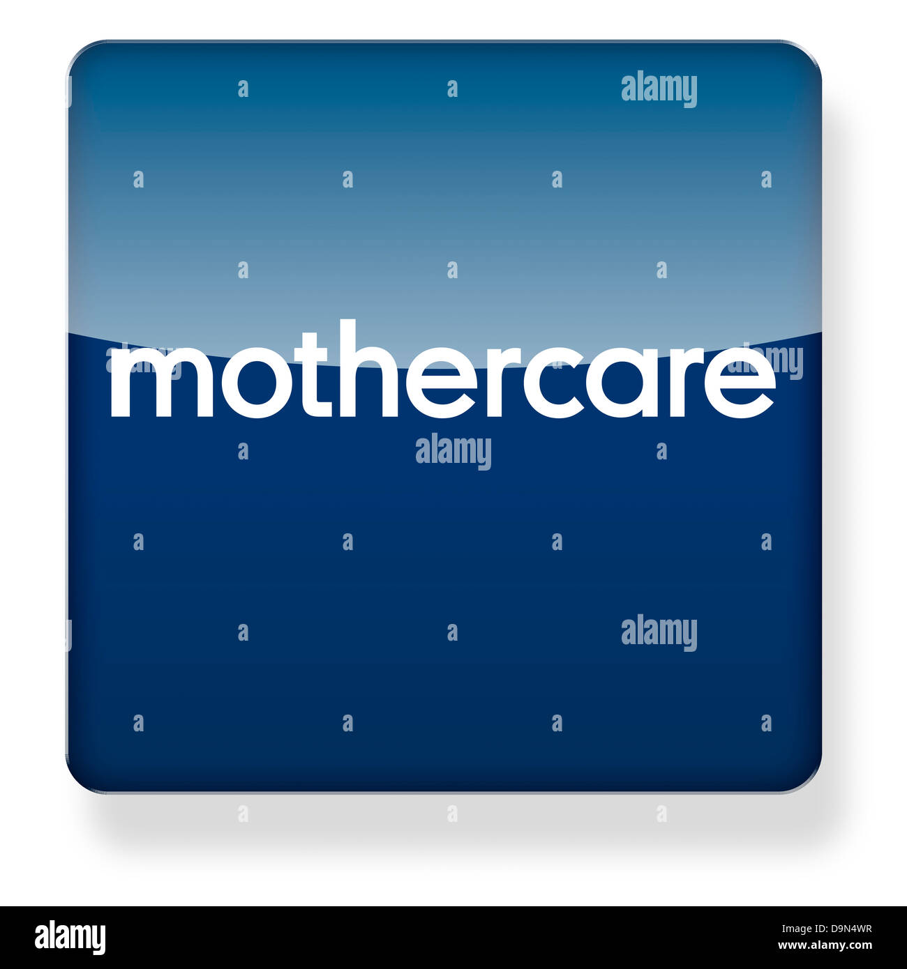 Mothercare logo as an app icon. Clipping path included. - Stock Image