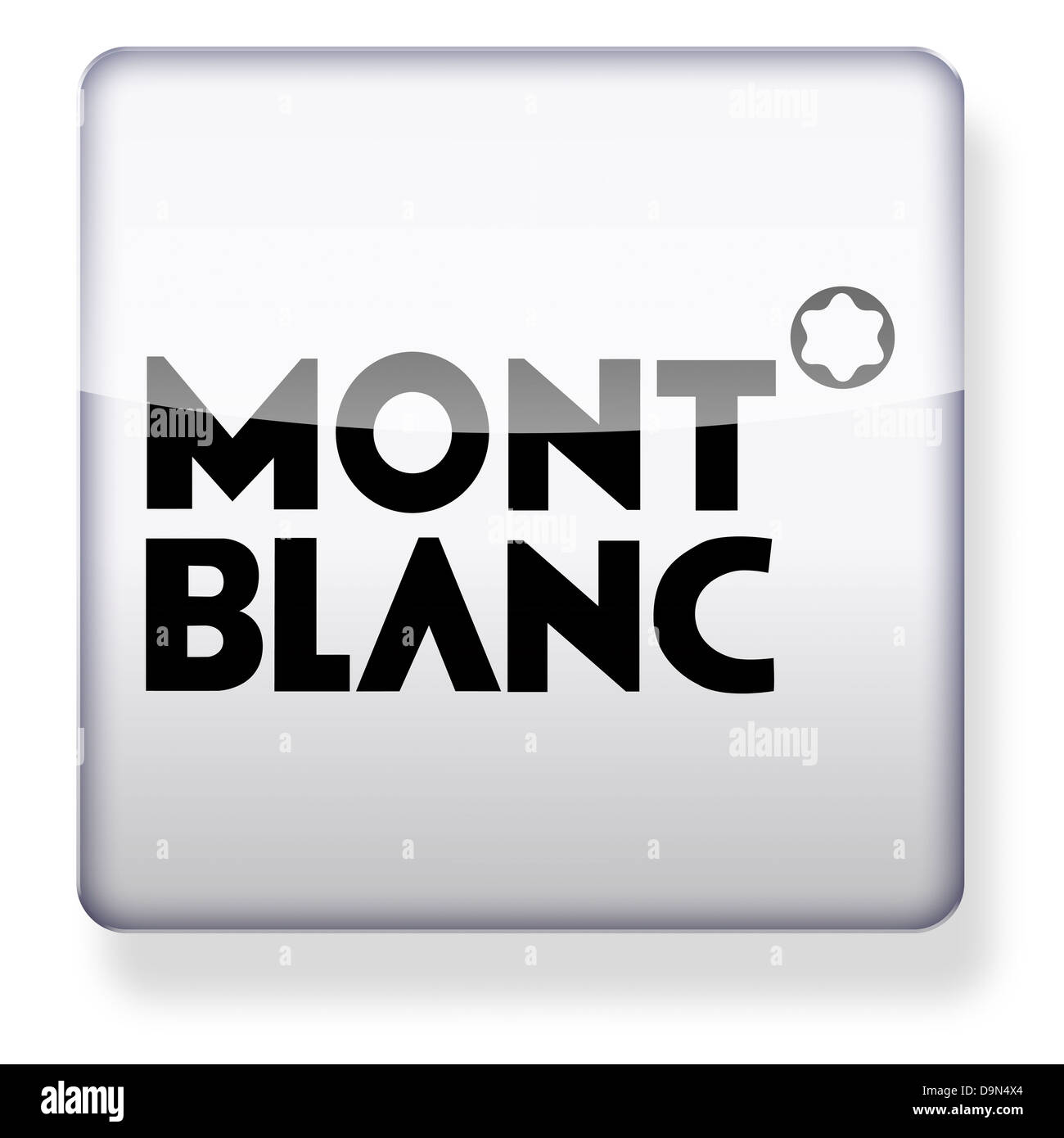 Mont Blanc logo as an app icon. Clipping path included. - Stock Image