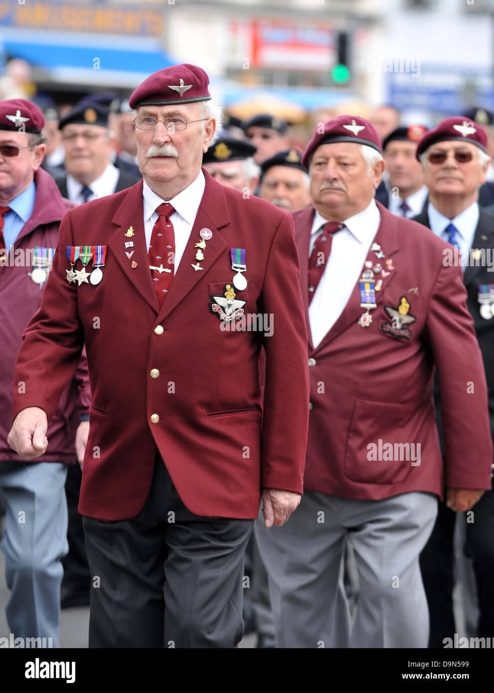 World War II veterans parade - Stock Image