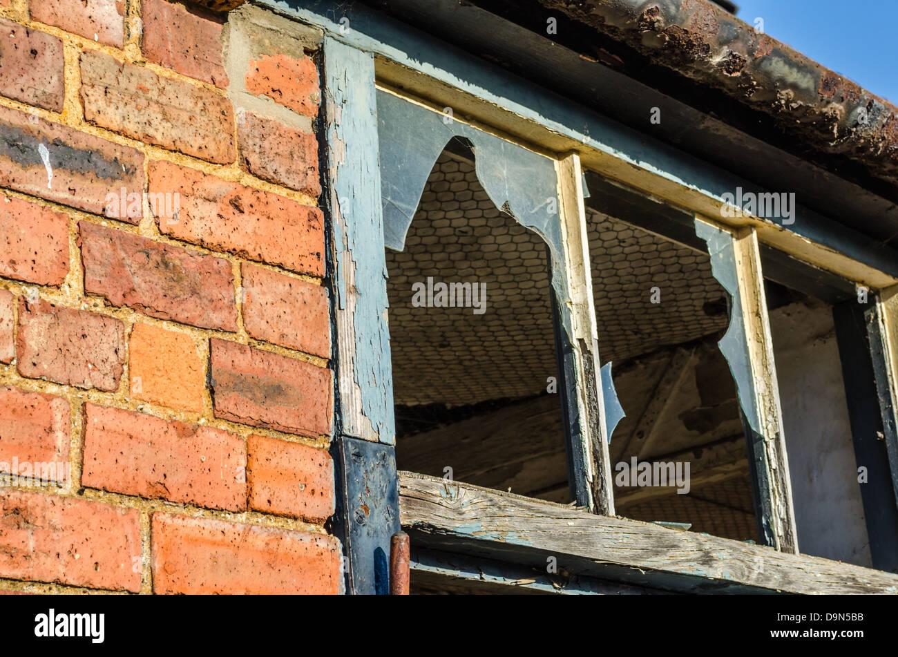 Old brick building. Moreton-in-Marsh, Gloucestershire, England. - Stock Image