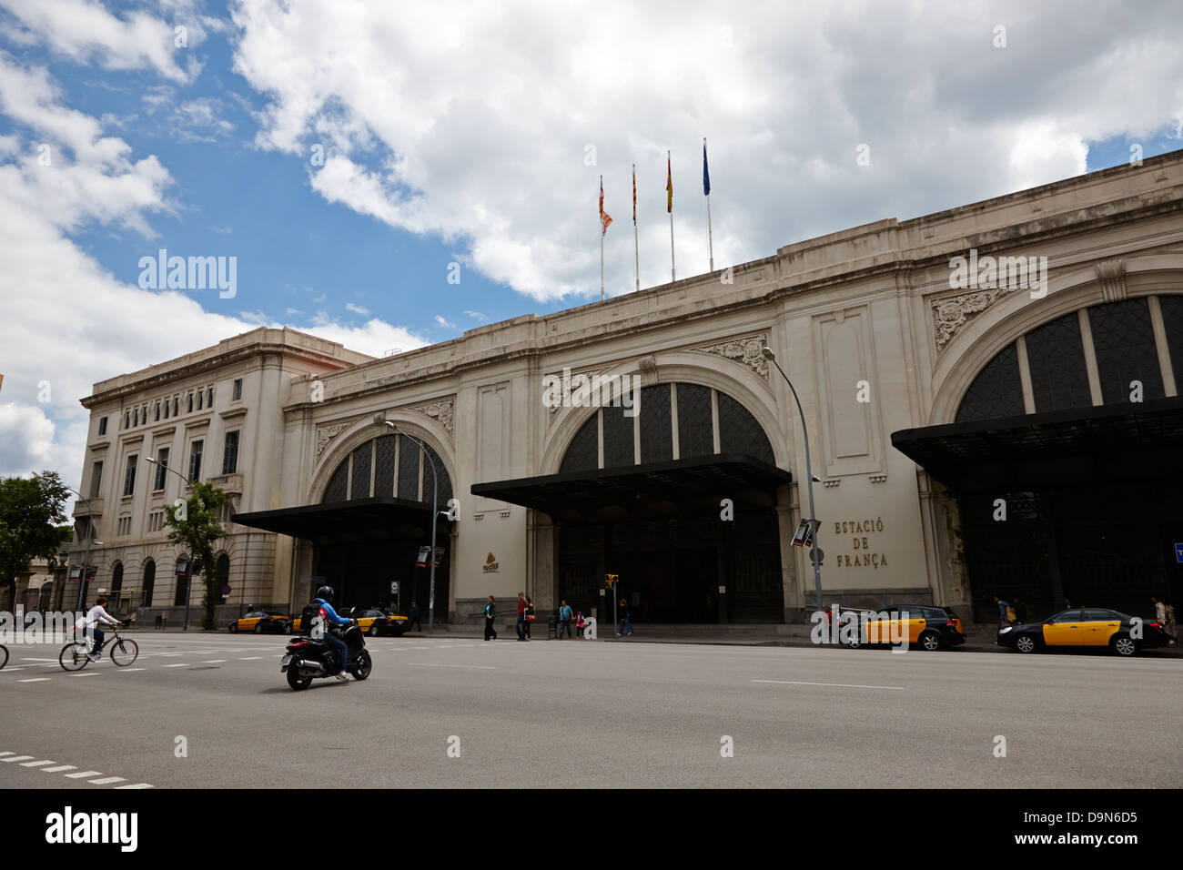 estacio de franca train station barcelona catalonia spain - Stock Image