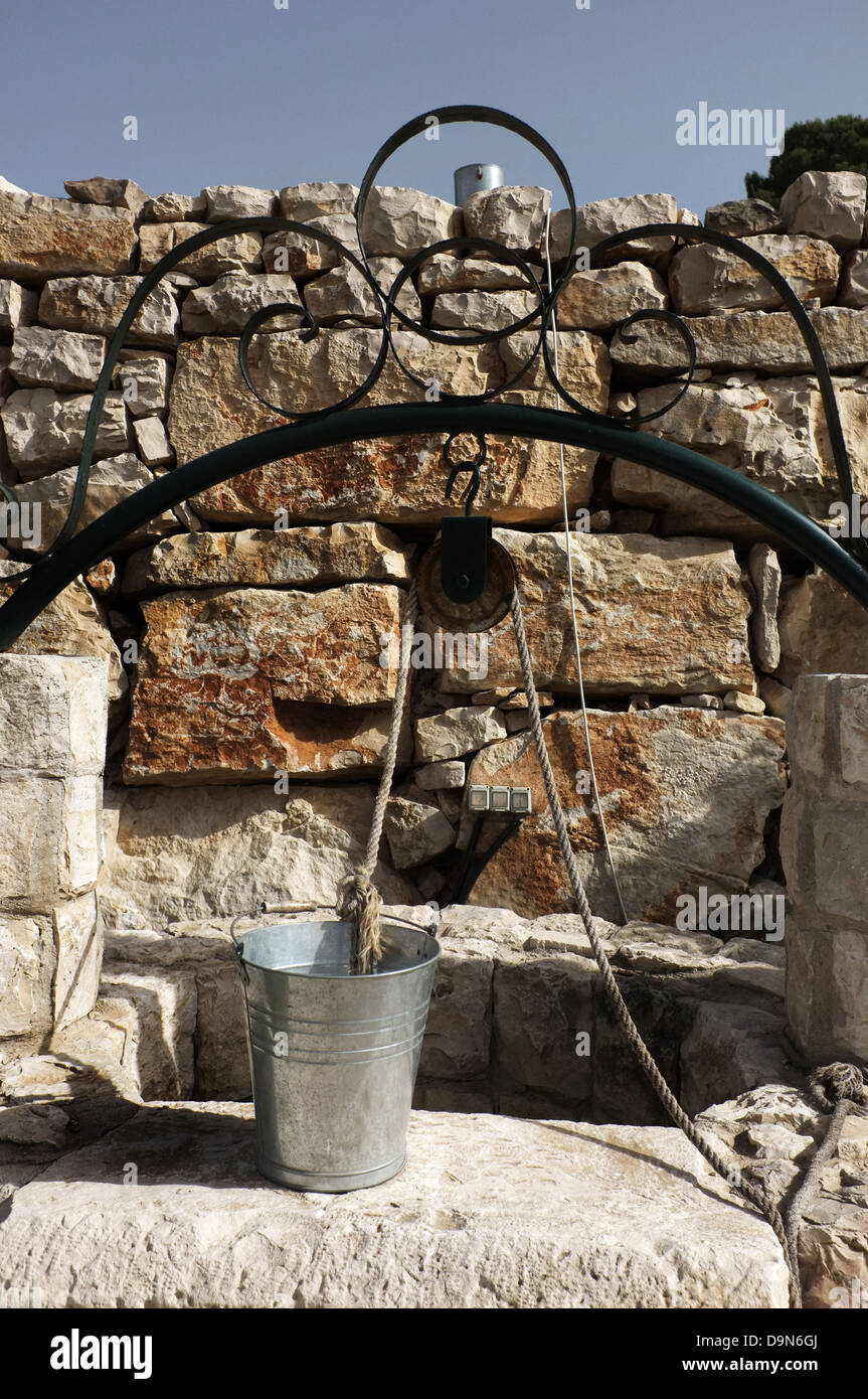 Water Well at an old house in Nablus, Palestine. - Stock Image