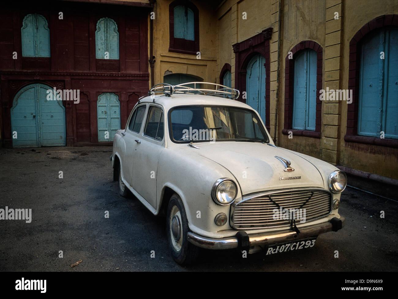 Traditional Indian Ambassador car, Bikaner, Rajasthan, India Stock ...