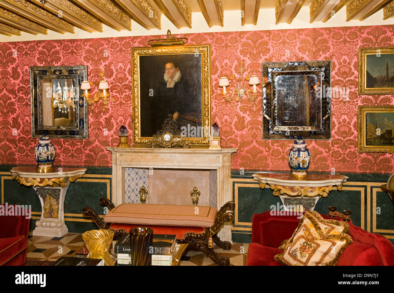 The Explorer's Library, Gritti Palace Hotel (restored 2013) - Stock Image