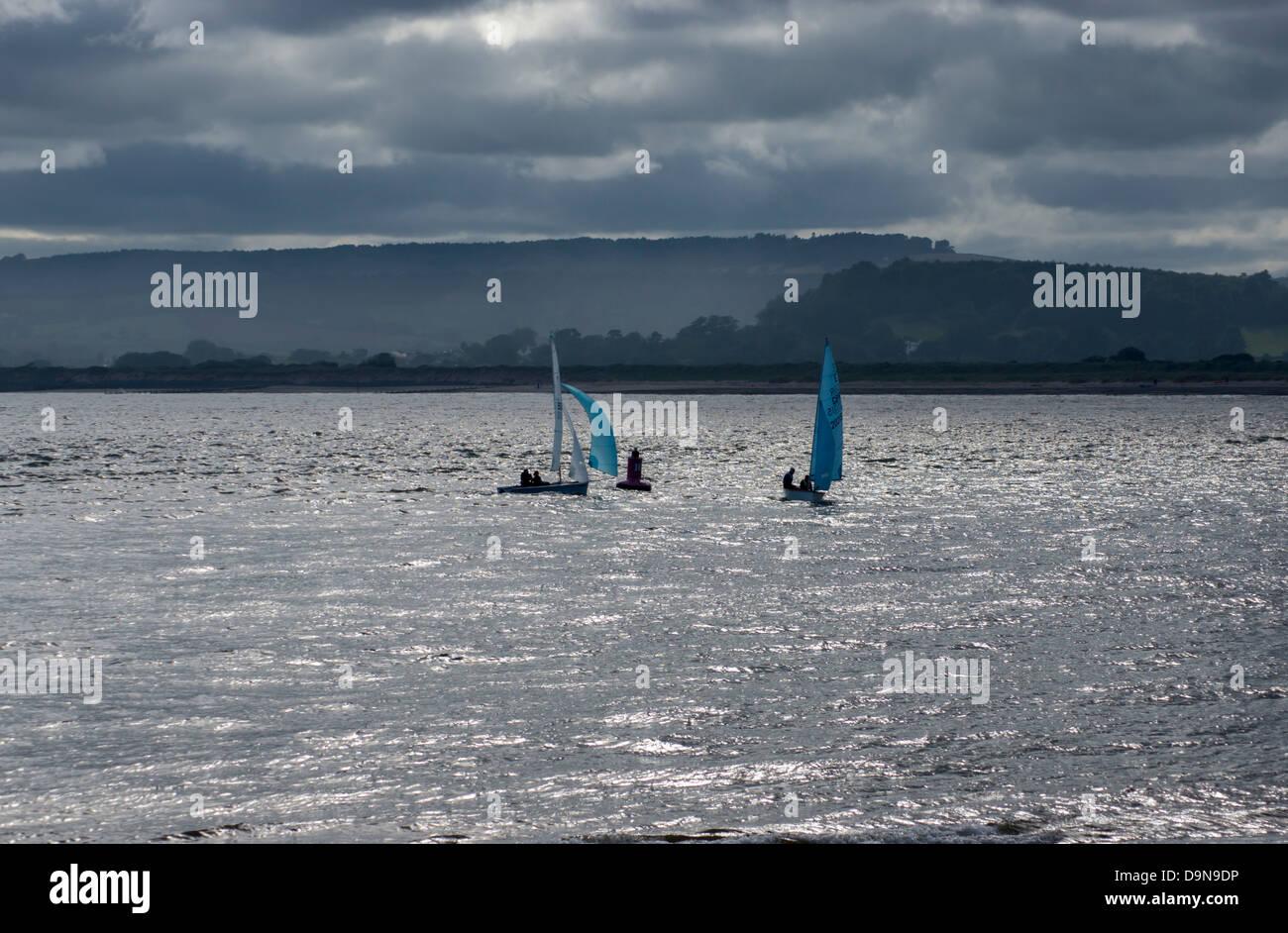 europe, uk, england, devon, Exe estuary sailing - Stock Image