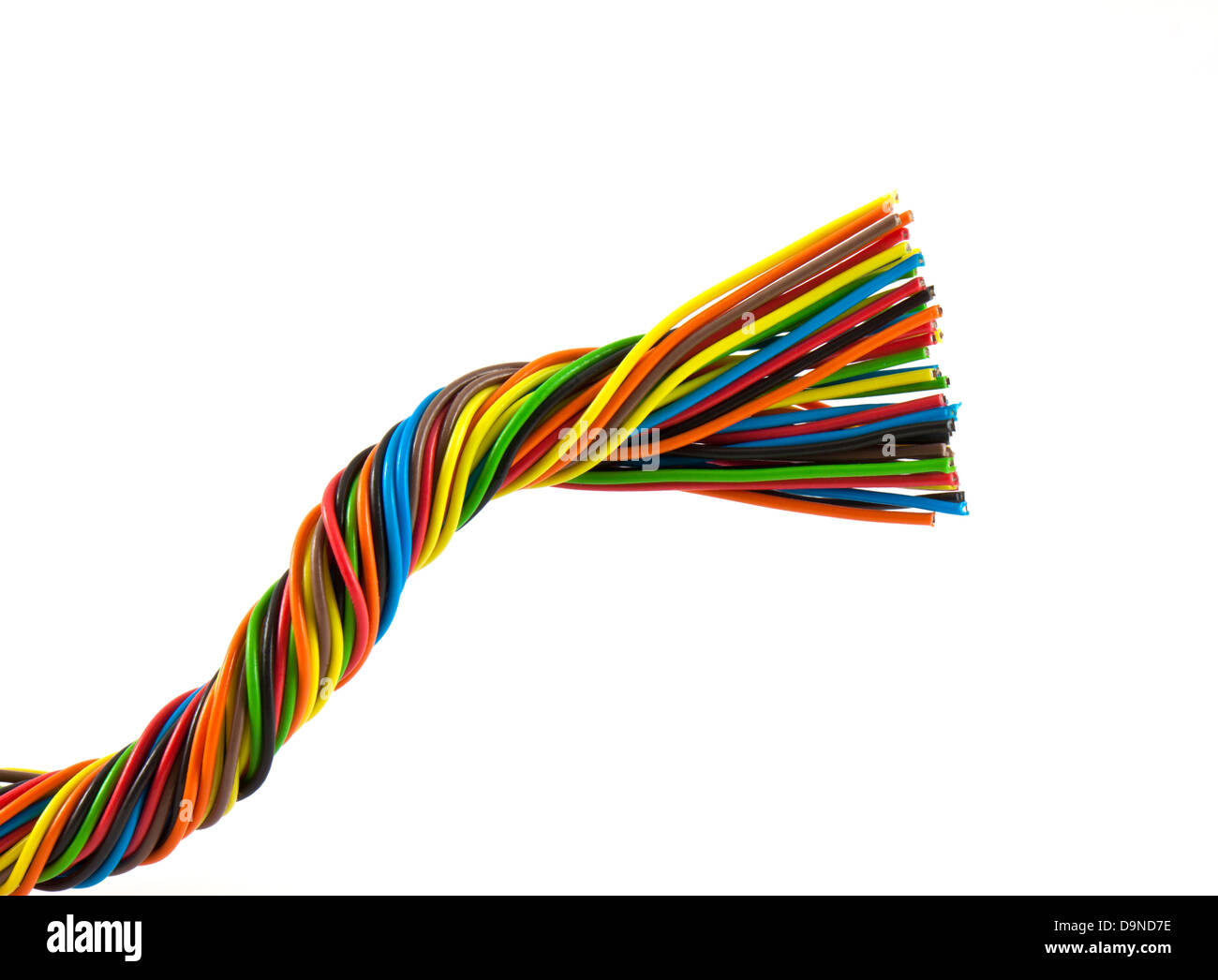 Color wires isolated on white background Stock Photo: 57634402 - Alamy