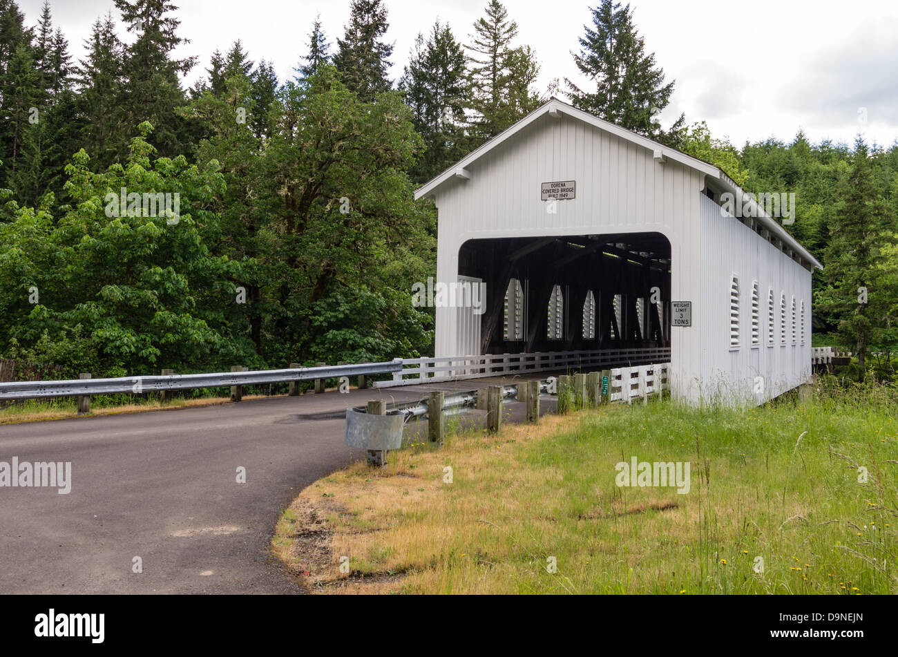 Cottage Grove Covered Bridge Stock Photos Amp Cottage Grove