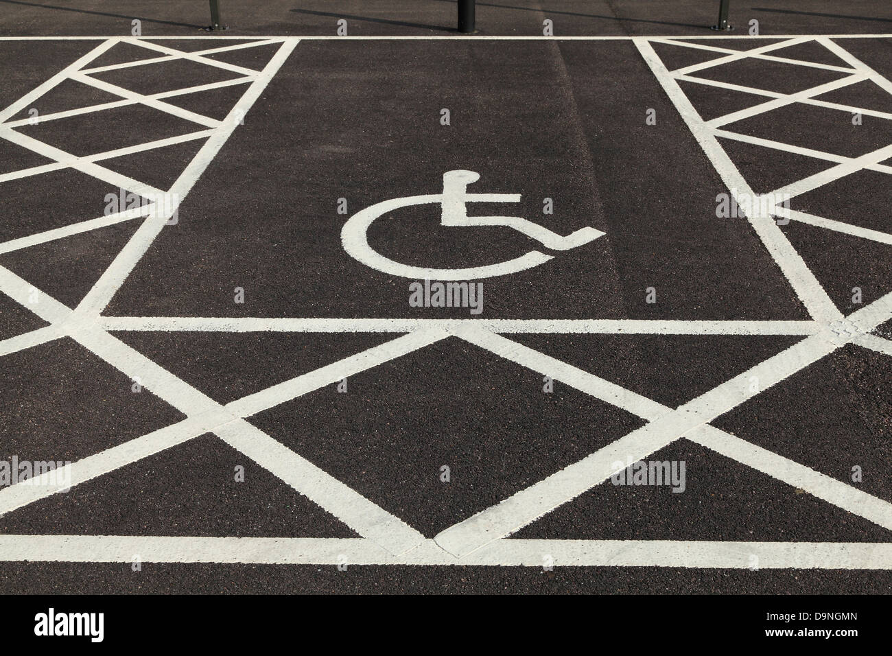 Car Parking Bay for Disabled driver or passenger, logo - Stock Image