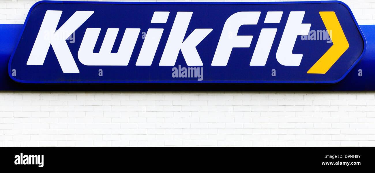 Kwikfit logo, UK, Kwik Fit, UK - Stock Image