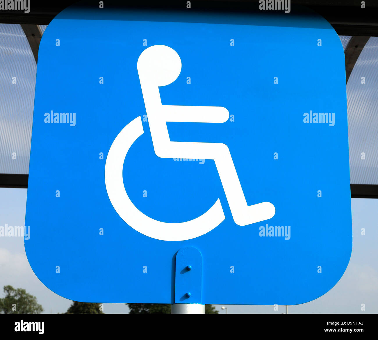 Parking Bay, Disabled logo, UK - Stock Image