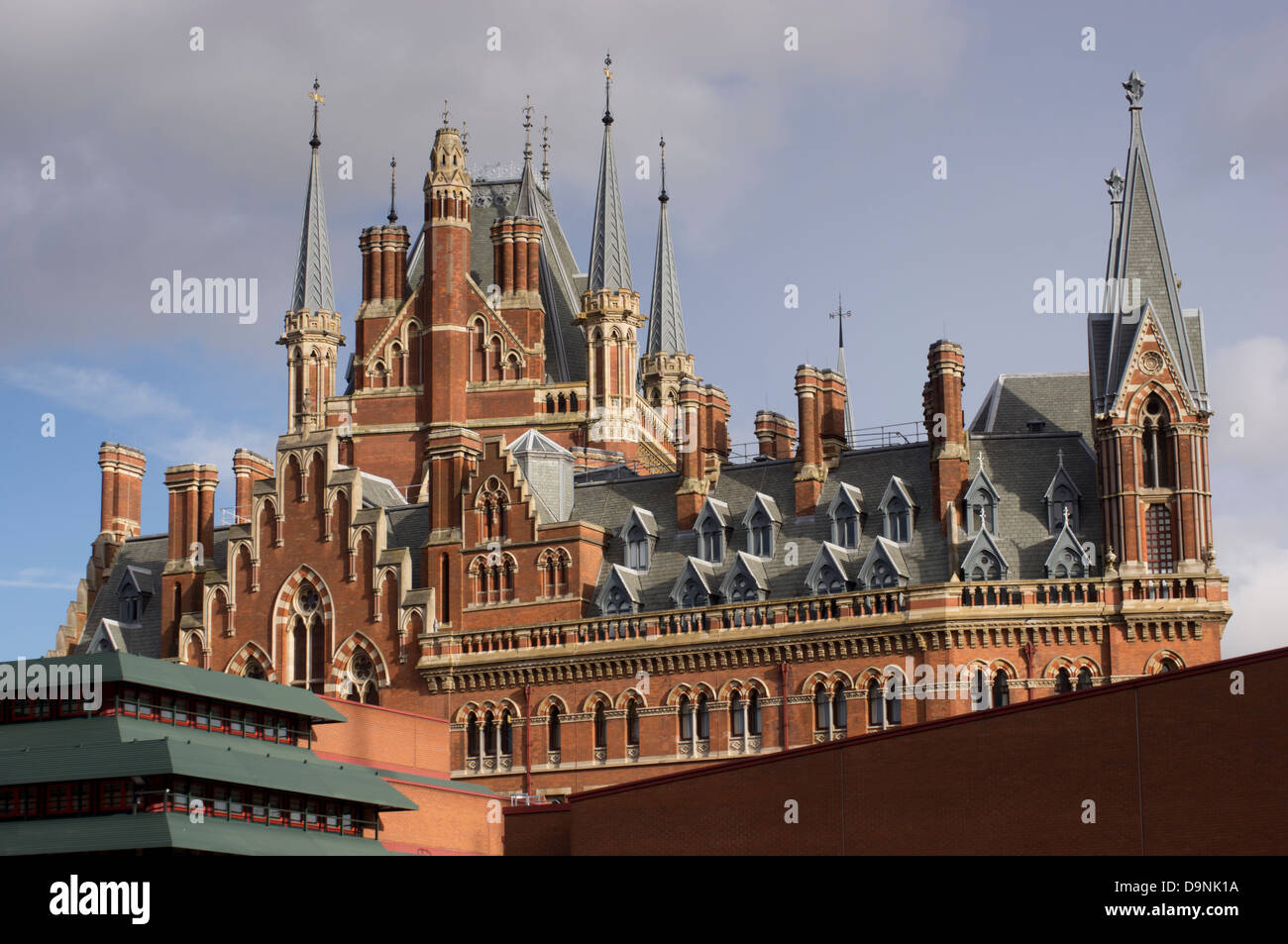 UK, England, London, st pancras station eurostar terminus - Stock Image