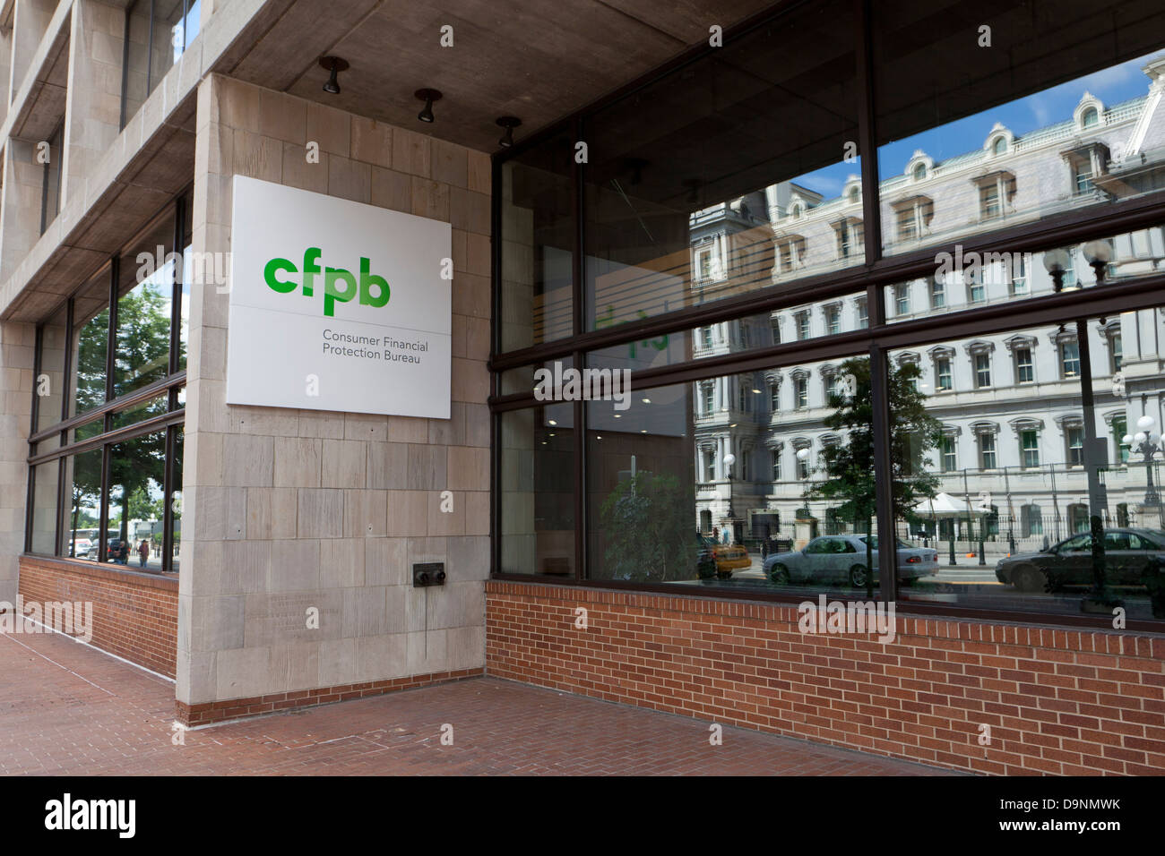Consumer Financial Protection Bureau headquarters building, Washington DC - Stock Image