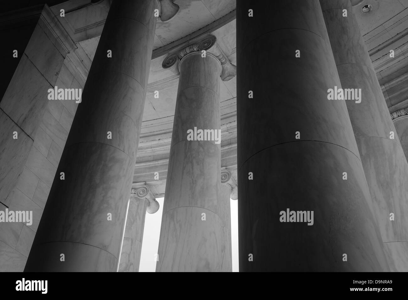 Stone Pillars in Black and White - Stock Image