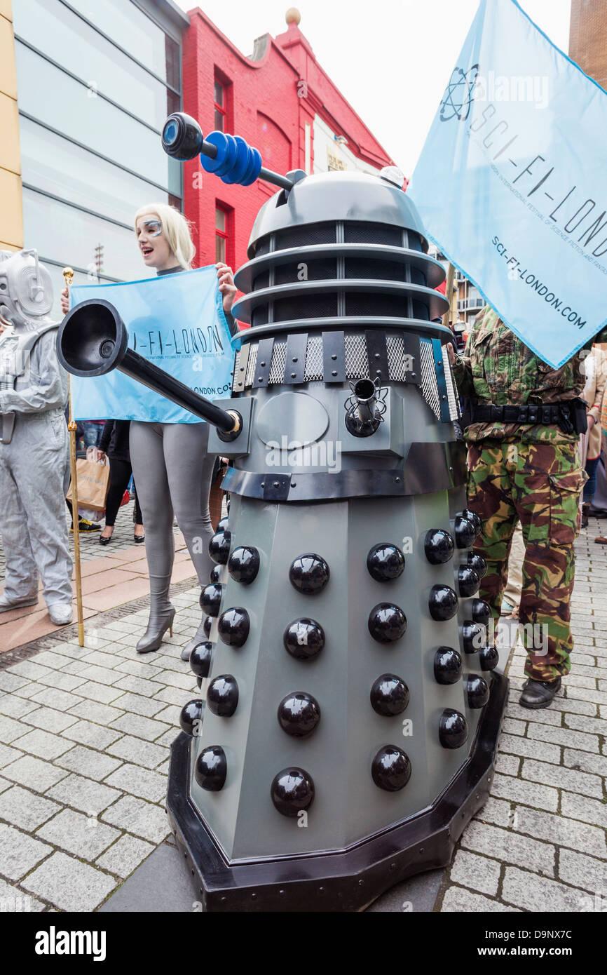England, London, Stratford, Annual Sci-fi Costume Parade, Dalek - Stock Image