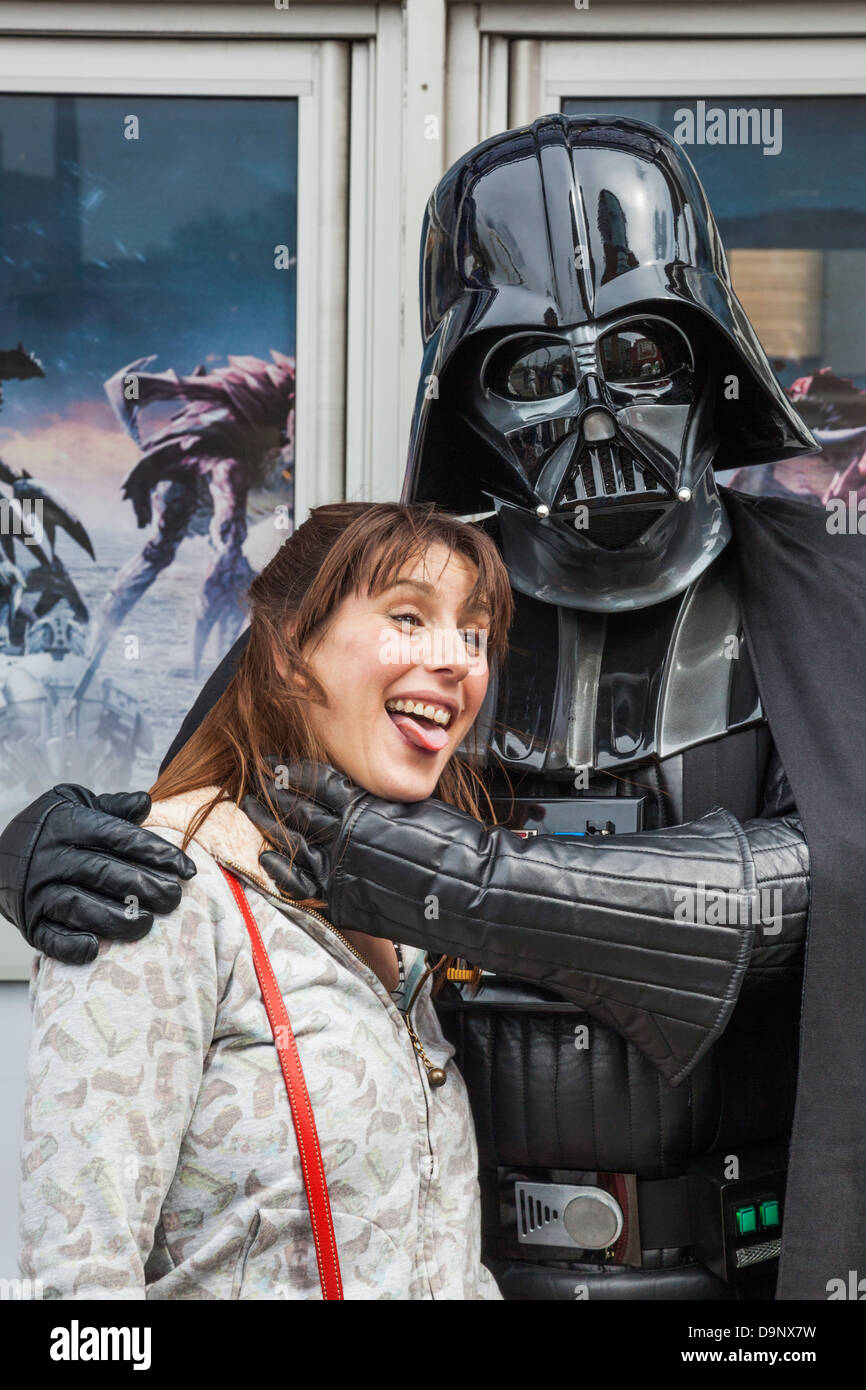 England, London, Stratford, Annual Sci-fi Costume Parade, Star Wars, Darth Vader - Stock Image