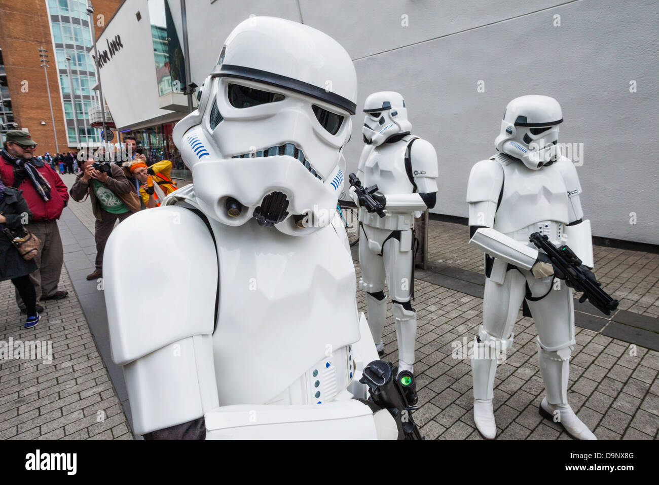 England, London, Stratford, Annual Sci-fi Costume Parade, Star Wars, Stormtroopers Stock Photo
