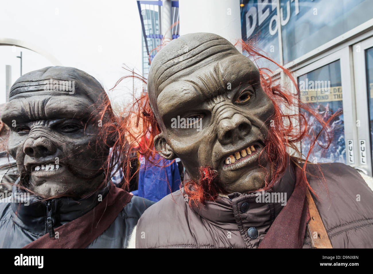 England,London,Stratford,Annual Sci-fi Costume Parade,Sci-fi Monsters  Stock Photo