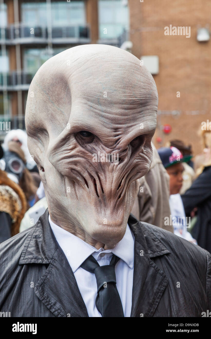 England, London, Stratford, Annual Sci-fi Costume Parade, Sci-fi Monster - Stock Image