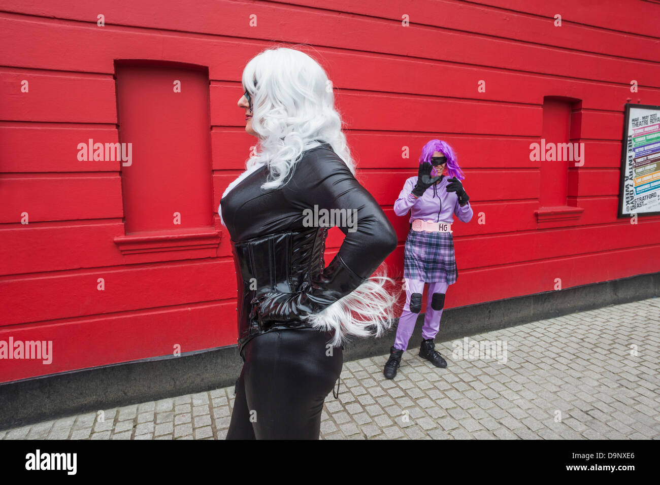 England, London, Stratford, Annual Sci-fi Costume Parade, Sci-fi Movie Characters - Stock Image