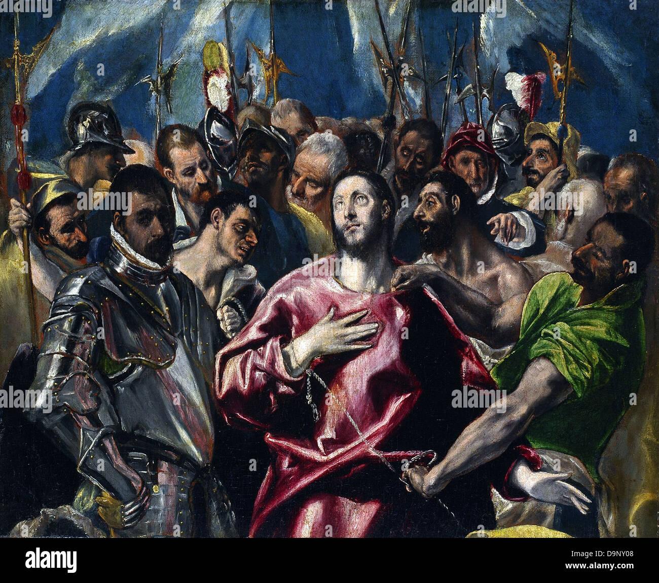 El Greco L'Espolio Beaux-Arts Museum - Lyon - Stock Image