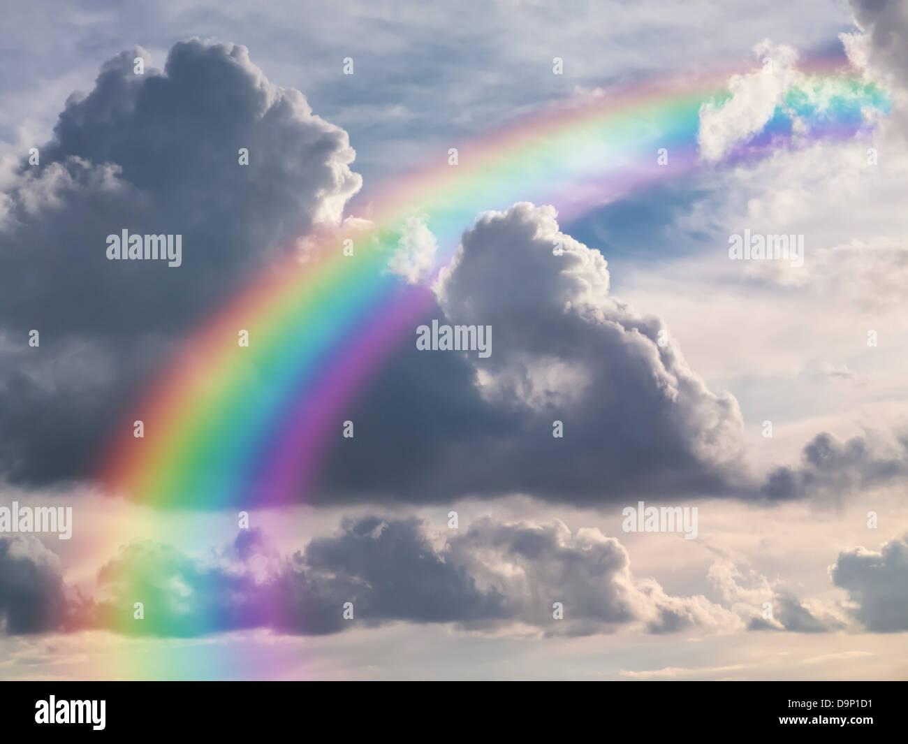 Rainbow Sky - Stock Image