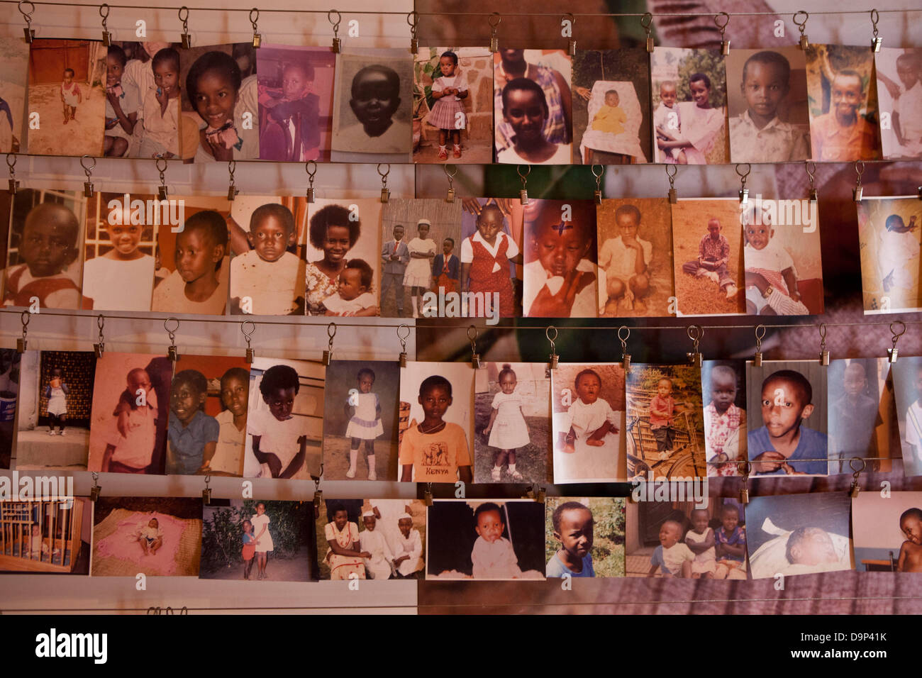 A photo display of some of the victims at the Kigali Memorial Centre for 1994 genocide in Rwanda. - Stock Image