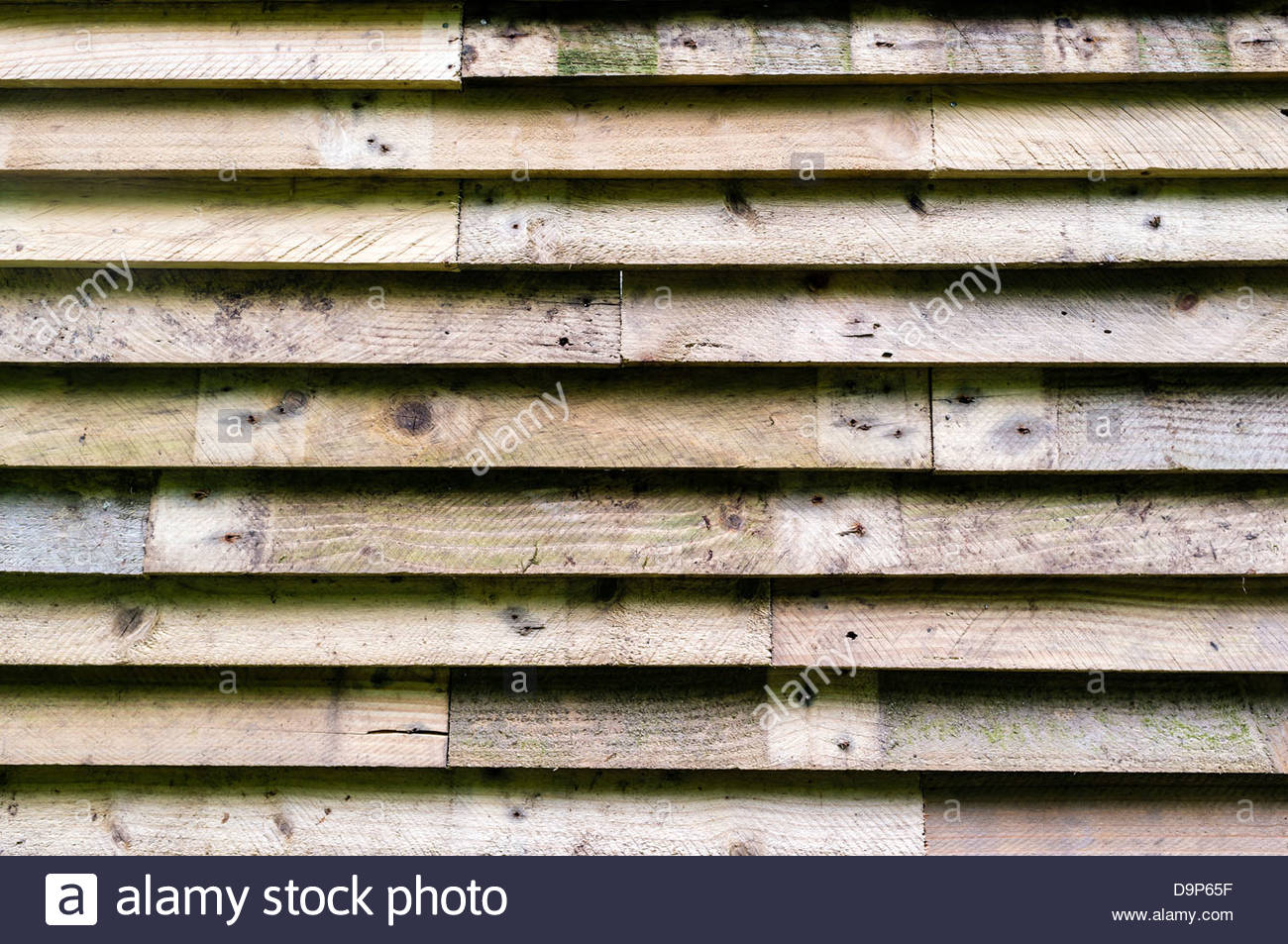 Detail of Clapboard Siding - Stock Image