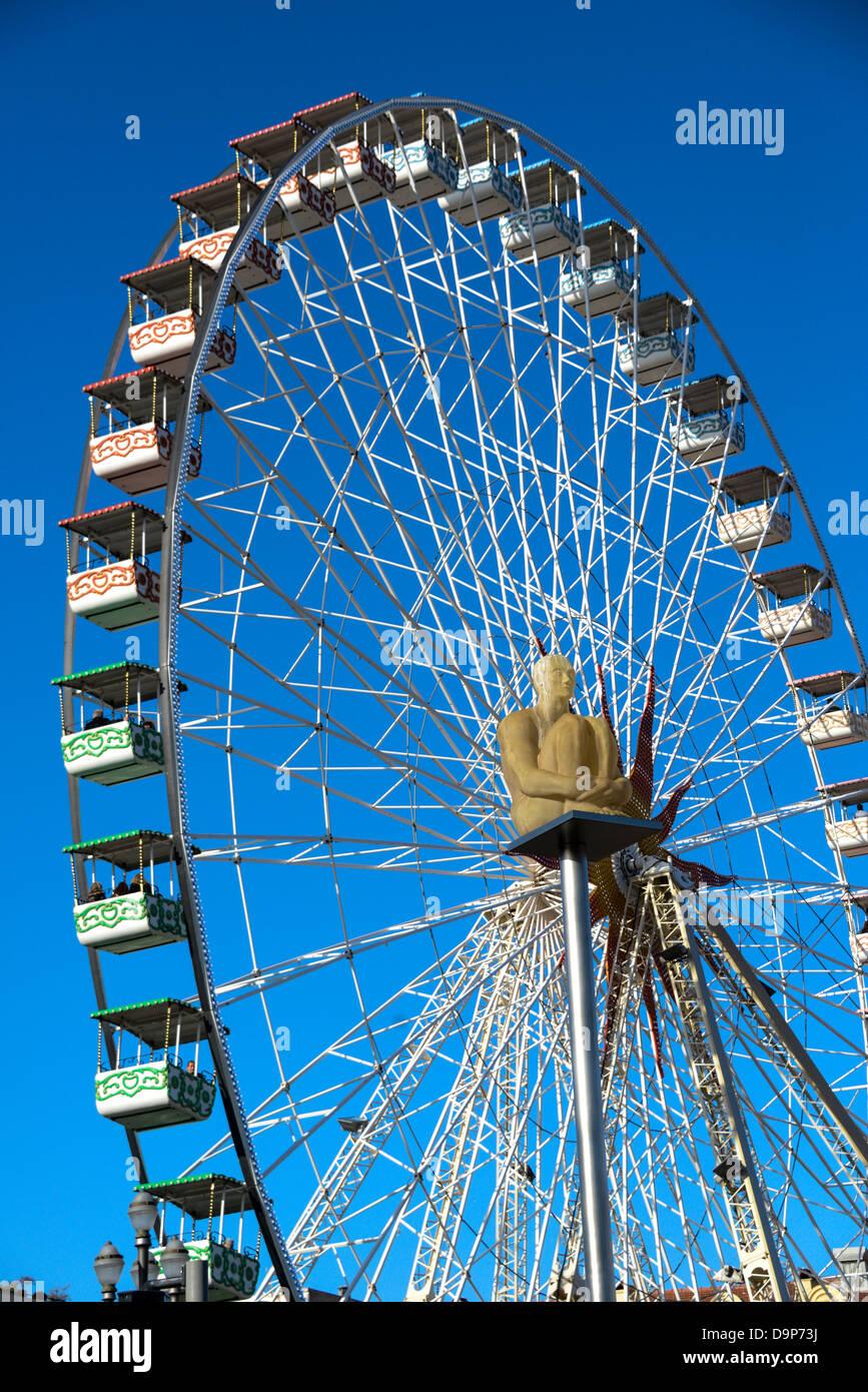 A Ferris wheel in Nice France Stock Photo