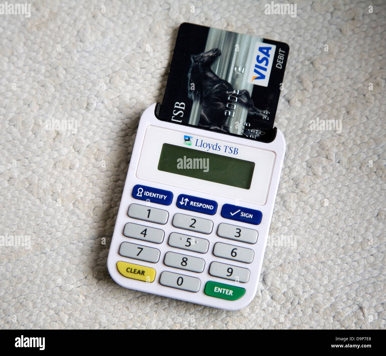 Ezio Lloyds Bank card reader online banking security device Stock