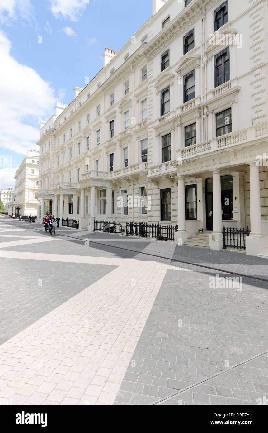 Exhibition Road in the Royal Borough of Kensington and Chelsea. Stock Photo