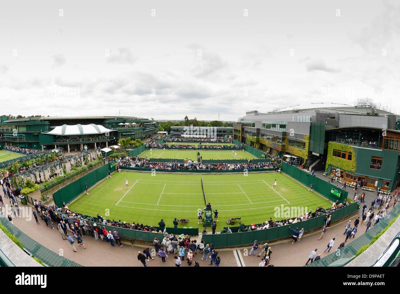 official photos ee652 fd1d2 The All England Lawn Tennis and Croquet Club, London, UK. 24th June 2013.  The Wimbledon Tennis Championships 2013. General View (GV). Outside Courts  Nos 4 ...