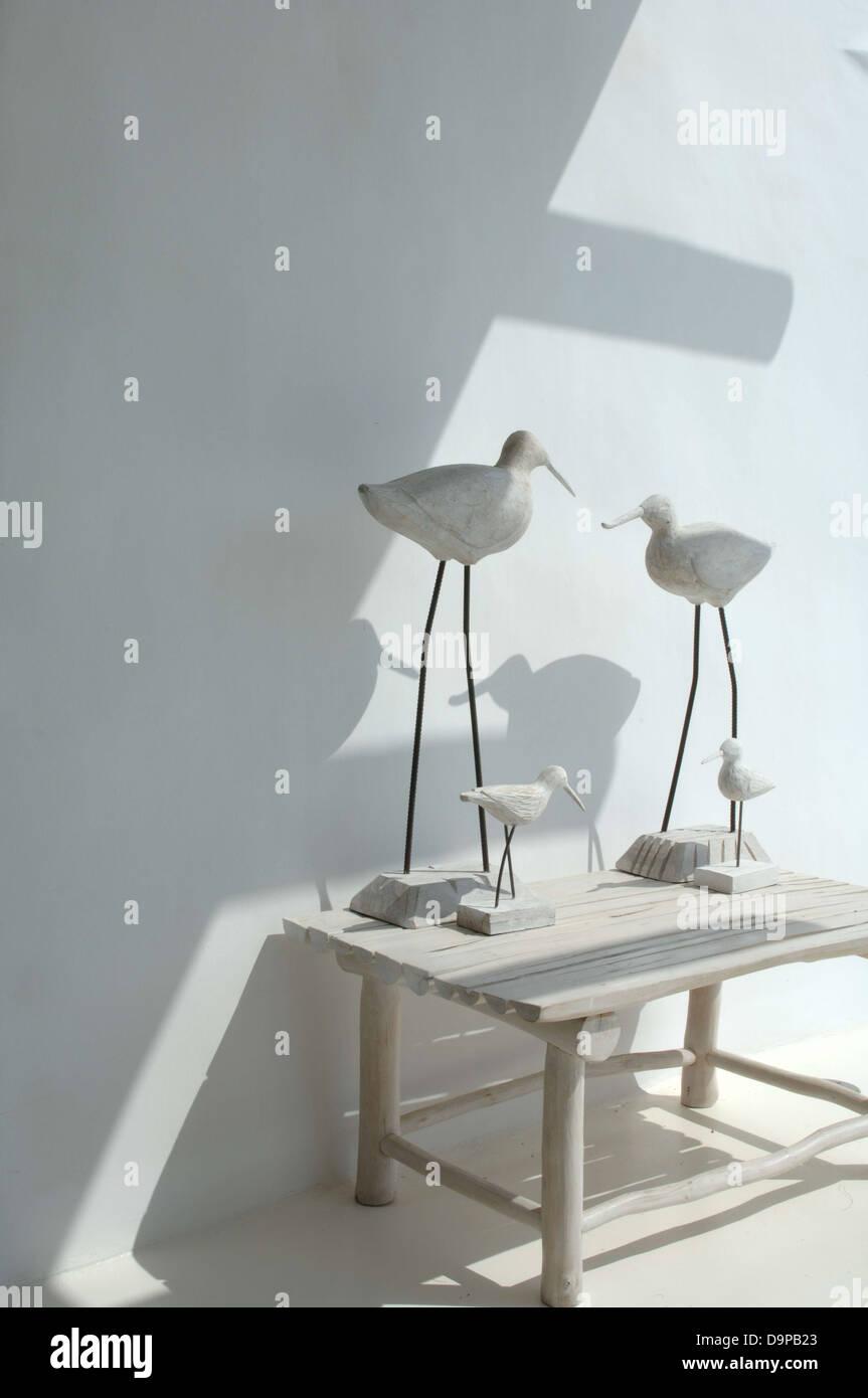 Bird figurines - Stock Image