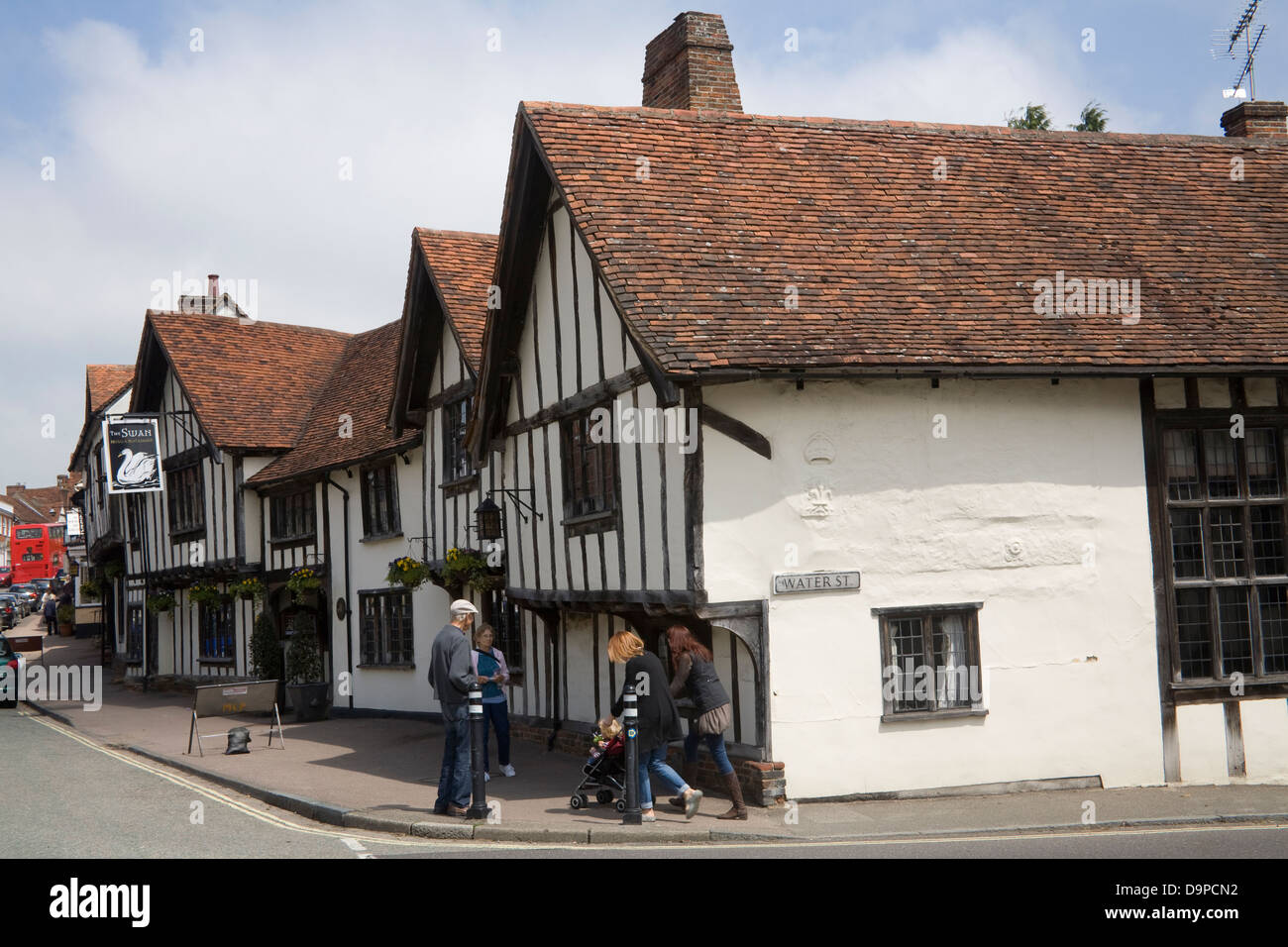 Lavenham Suffolk East Anglia England Swan Hotel and Restaurant in High Street of lovely medieval village Stock Photo